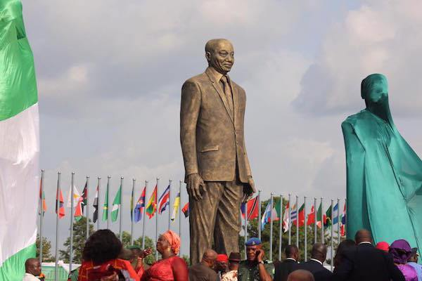 'Okorocha is a curse'... Twitter reacts to the unveiling of Jacob Zuma statue in Owerri